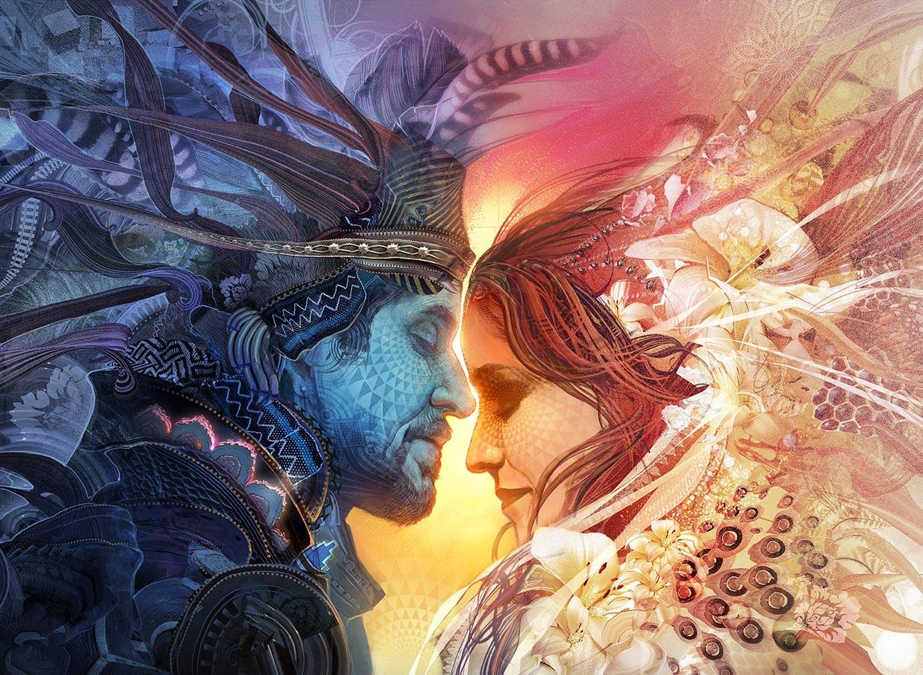 Polarités Flammes Jumelles - Théorie de l'Amour Sacré - L'auracle